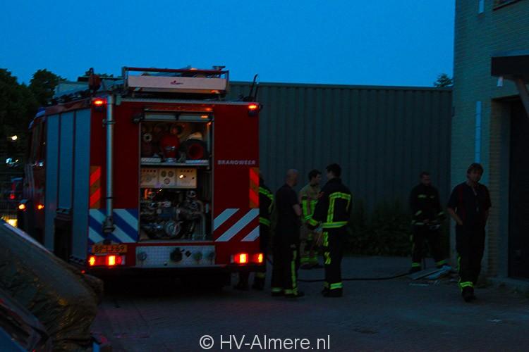 Afval in brand tegen pand Steurpand 2