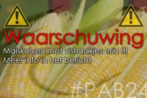 Politie waarschuwt voor maiskolven met vishaken