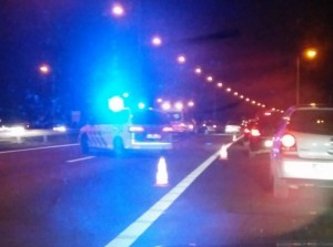 A6 dicht na ongeval met vier auto's