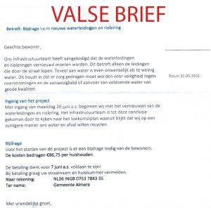 Valse brief