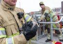 Brandweer bevrijdt duif uit benarde positie