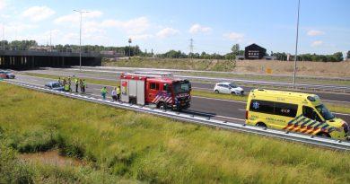 Gewonde na ongeval snelweg A6