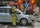Autobrand bedreigt woning Oostvaardersbuurt