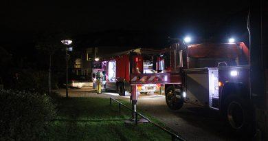 Schoorsteenbrand in Stedenwijk