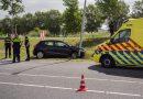 Auto uit de bocht levert schade op bij Nobelhorst